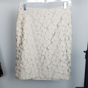 Ann Taylor pencil skirt taupe size 8